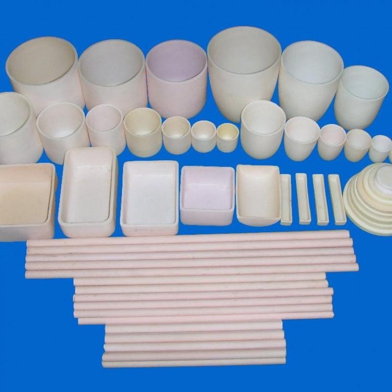 高纯氧化铝刚玉坩埚,直形坩埚,弧形坩埚,方形坩埚