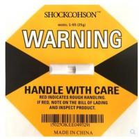 防震撞碰撞冲击标签SHOCKCOHSON震撞监测显示标签