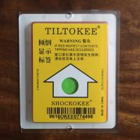 防震标签防倾斜标签TILTOKEE一代倾倒显示标签防倾斜标签