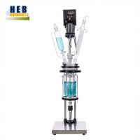 实验用5L双层玻璃反应釜HEB-5L 型号可定做